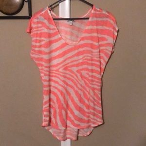 Express coral animal print top